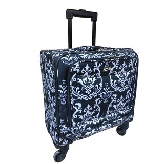 Jourdan Fashion Damask 15-inch Under-seat Spinner Carry-on Tote