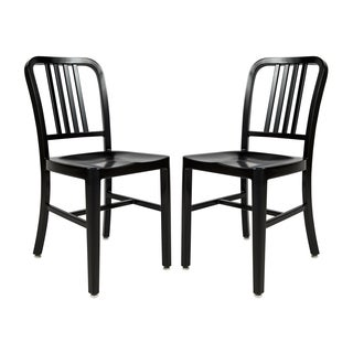 Somette Alton Black Modern Dining Chair (Set of 2)