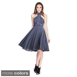 Von Ronen Women's Versatile Convertible Transformer Short Dress (One Size Fits 0-12)