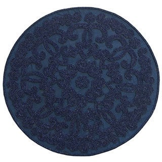 Blue Beaded Placemat (India)