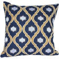 Auburn Textiles 16 x 16-inch Velvet Embroidery Decorative Throw Pillow