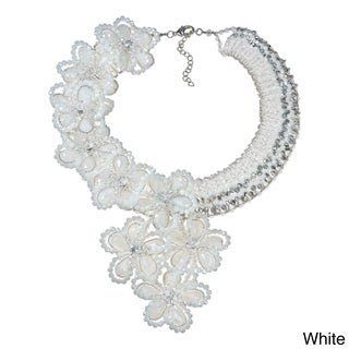 Infinite Blossoms Dazzling Crystals Statement Necklace (Thailand)