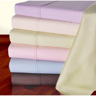 Luxor Treasures Certified Supima Cotton 450TC Deep Pocket Sheet Set and Pillowcase Separates