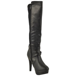 Forever Women's 'Della-45' Ankle Strap Knee-high Boots