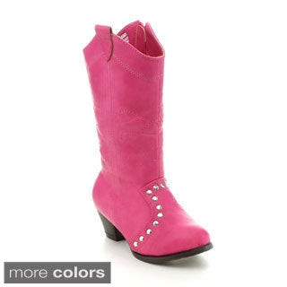 Jelly Beans Girls 'Marino' Western Style Knee-high Boots