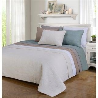 Channing Floral Cotton 3-piece Quilt Set