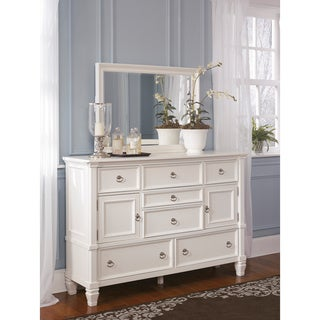 Signature Design by Ashley Prentice White Dresser and Mirror