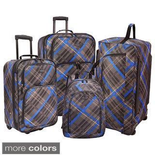 U.S. Traveler by Traveler's Choice Camarillo 4-piece Casual Plaid Luggage Set