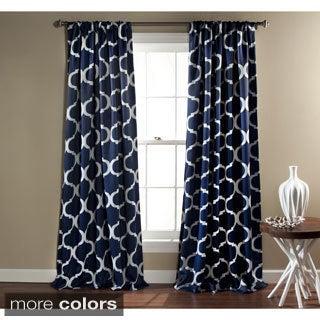 Lush Decor Geometric Blackout Curtain Panel Pair