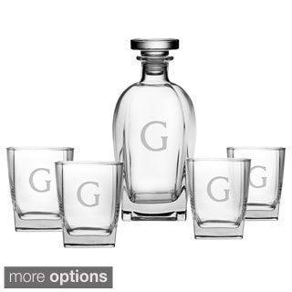 Personalized Luigi Bormioli 5-piece Decanter/ Glasses Set