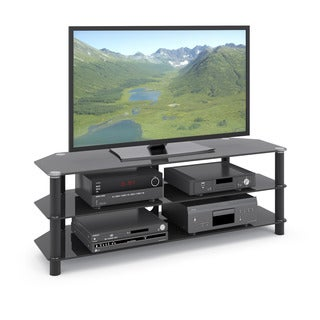 CorLiving TRA-704-T Trinidad Black Glass TV Stand