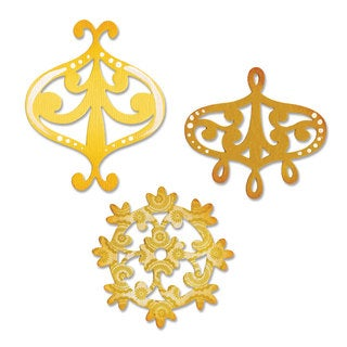 Sizzix Sizzlits Decorative Accent & Flower Wreath Die Set by Dena Designs (3-pack)