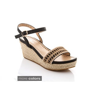 Women's 'Jude-2' Espadrille Strappy Wedges