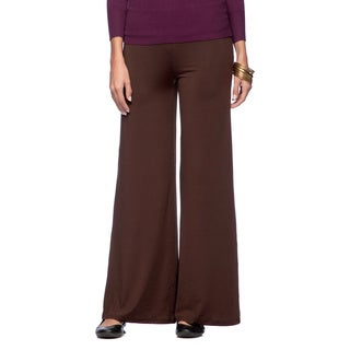 White Mark Women's Relaxed Palazzo Pants