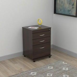 Inval 3-drawer Espresso File Cabinet