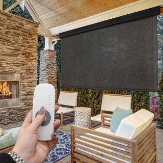 Valanced Exterior Remote Control Operated Outdoor Shade
