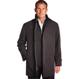Jean Paul Germain Men's 'Java' Black Convertible Microfiber Jacket