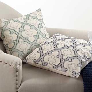 Moroccan Design Down Filled 20-inch Throw Pillow