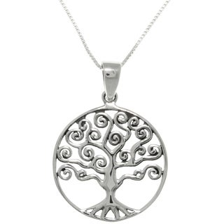 CGC Sterling Silver Celtic Love Tree Of Life Pendant Necklace