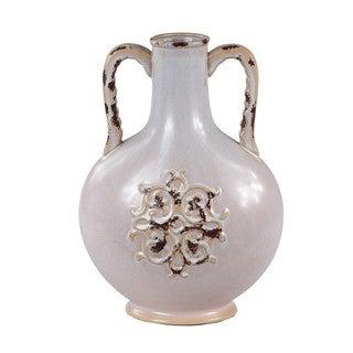Large Cream Ceramic Vase