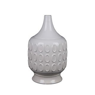 Small White Circle Ceramic Vase