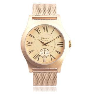 Geneva Platinum Women's Stainless Steel Chronograph Mesh Band Watch