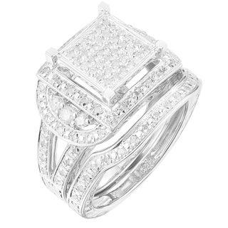 Sterling Silver 1/2ct TDW Diamond Ring Set (G-H, I2-I3)
