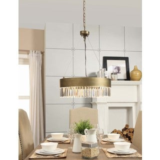 Retro Glitz 6-light Gold Chandelier