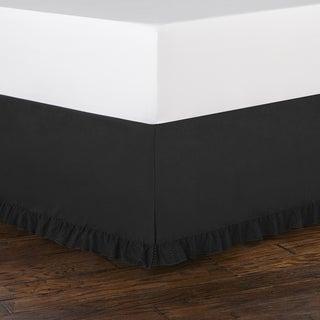 Betsey Johnson Black Ruffled Bedskirt