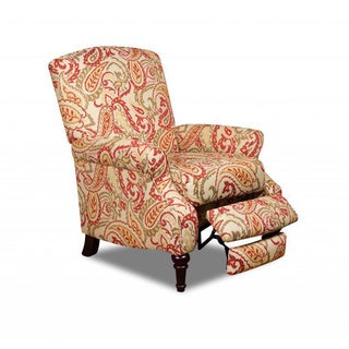 Made to Order Simmons Upholstery Zinnia Red Hi-Leg Recliner