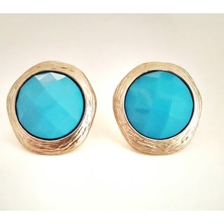 Pretty Little Style Gold-dipped Faceted Stud Earrings