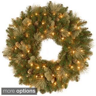 Carolina Pine Wreath with Clear Lights