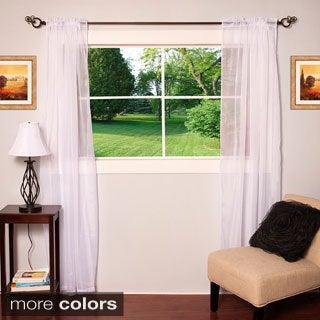 Sheer Rod Pocket 84-inch Curtain Panel Pair