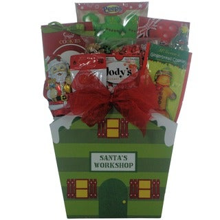 Santa Children's Holiday Christmas Gift Basket