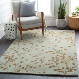 Hand-tufted Sakura Branch Floral Wool Area Rug (5' x 8')