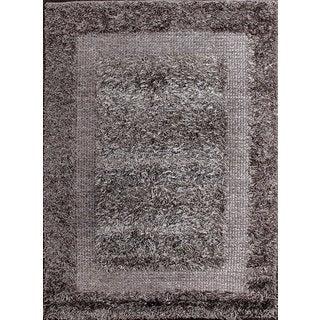 Stylish and Beautiful Grey Shag Rug (2.1' x 4')