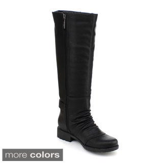 DBDK Women's 'Calcia-4' Slouchy Riding Knee High Boots