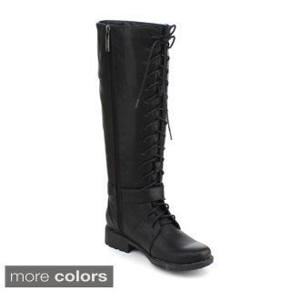 DBDK Women's 'Calcia-6' Lace-up Riding Knee-high Boots