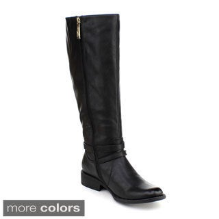 DBDK Women's 'Chery-4' Ankle-strap Riding Knee-high Boots
