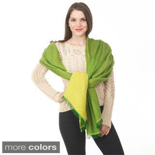 Two Tone Design Shawl