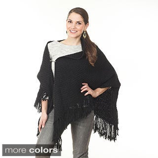 Women's Knitted Open Poncho