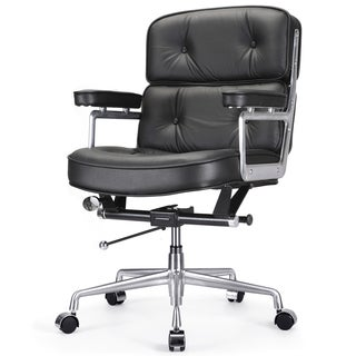 Cinque Black Italian Leather Office Chair