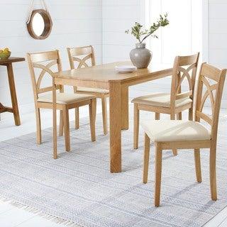 Simple Living 5-piece Verbena Light Oak Dining Set