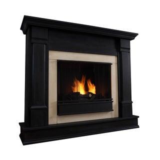 Real Flame Silverton Black Gel Fireplace