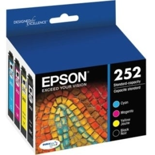 Epson DURABrite Ultra Ink T252 Ink Cartridge - Cyan, Black, Magenta,