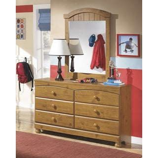 Signature Design by Ashley Stages Youth Replicated Pine Grain Bedroom Mirror