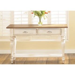 Liberty Bisque and Natural Pine Cottage Sofa Table