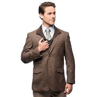 Prontomoda Europa Men's Light Brown Wool/ Cashmere Sportcoat