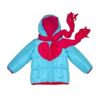Mint Girls Turquoise/ Fuchsia Heart Jacket (Sizes 4-6X)
