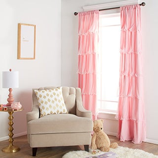 Lush Decor Nerina Ruffled Microfiber Curtain Panel